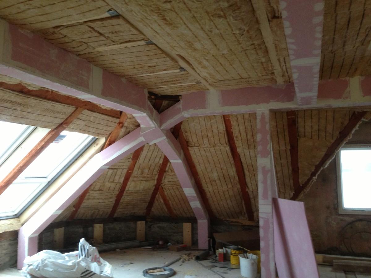 Mineralwolldämmung im Dach