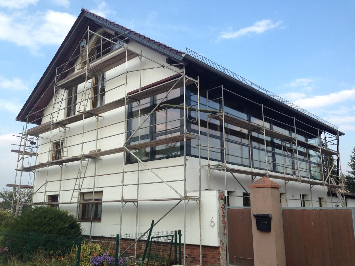 Styropor Fassadendämmung